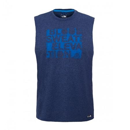 Camiseta The North Face Reaxion Ampere sin Mangas -Azul-